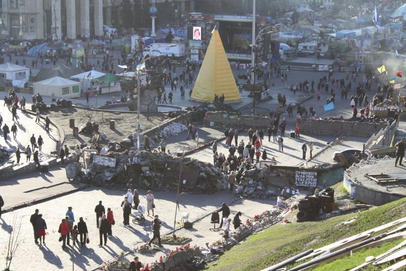 Крещатик после революции(25 марта 2014), фото подборка центра Киева