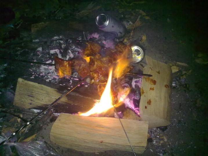 Осенний ночной шашлык